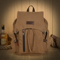 Free shipping double-Shoulder Male and female backpack school bag casual canvas bag travel bag