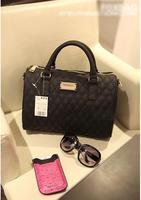 2014 Fashio designer handbag Mng plaid For women's Shoulder/Messenger handbag mango black plaid bucket handbag dimond/brand bag