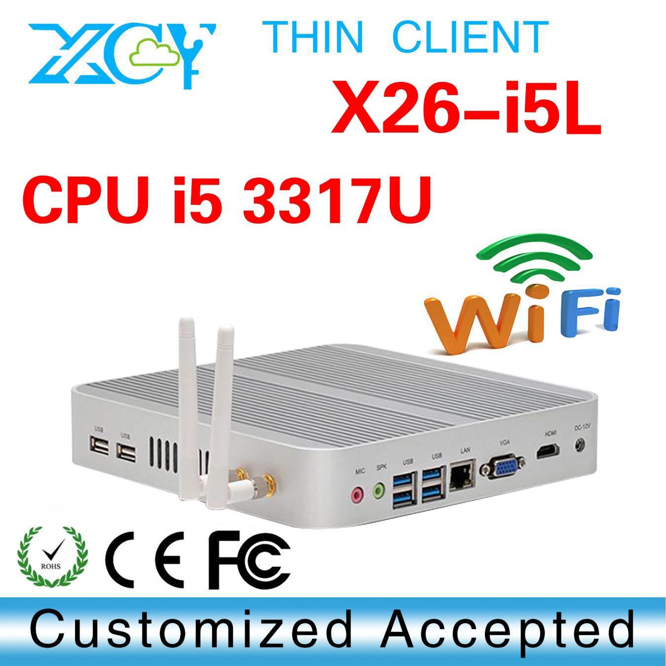 mini linux embedded pc, HDMI + VGA a simultaneous, XCY X26-i5L embedded box pc(China (Mainland))