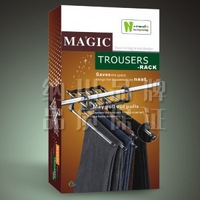 Free shipping Stainless Steel magic trousers hanger,antiskid pants rack,clothes Rack,wholesale,Retail,CY-HR10