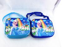 FROZEN Lunch bags Student Dinnerware Elsa Bags Frozen Messenger Bags Lunchbags 22*18cm Frozen Tableware Exclude boxes and bottle