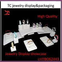 2014 Beige Velvet Jewelry Display Stands Set Jewellery Bracelet  Bangle Stand Holder Showcase