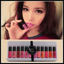 12 pcs/set Different colors 3ce lipsticks HOT Selling 2014  Fashion Women's Lipgloss Cosmetic new Lip Gloss makeup set ME62(China (Mainland))