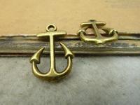 30pcs 14x22mm Antique bronze The Copper anchor Charm Pendant C4899