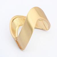 Free Shipping! 2014 New Punk Wide Cuff Opened 18K Gold Irregular Metal Bracelet Bangles For Women