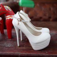 free shipping fashion sexy  high heeled pumps wedding shoes waterproof single shoes 12cm heels 8-13