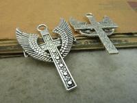 10pcs 28x40mm Antique silver The Wings cross  Charm Pendant C4902