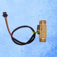 "USC-HS21TH Brass Hall Effect Flow Sensor for water flow rate measurement 1-30 BSP1/2"" sample"