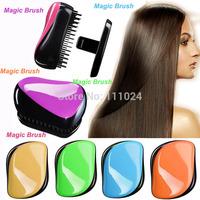 Hair Brushes Salon Styling Tool  Anti-static Detangling Hair Brush Portable Hairdressing Paddle Comb Free shipping