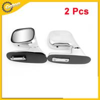 Car Van Adjustable Angle View Blindspot Blind Spot Mirror Silver Tone Frame  2 Pcs Car Rear View Blind Spot Mirror 80x 65mm