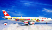 Free Shipping!Promotion Dragon Swiss airline A340 airplane model aircraft model 1:400 premiere collection souvenir gift