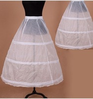 Hot sale Cheapeat 3 Hoop Wedding Bridal Gown Dress Petticoat Underskirt Crinoline Wedding Accessories Wholesale Hot Sale