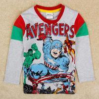 Boys clothing superman kids boys t-shirts baby clothes boy's t shirt child fashion tee shirt boys nova brand clothes A5206Y