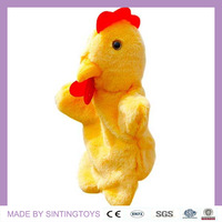 Hen and Cock mixed hand puppet toys SALE for children plush toy 12 pieces/lot