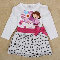 nova brand kids clothes 2014 child tutu dress with bow girl princess dresses vestidos de menina girls dress dora summer H5070