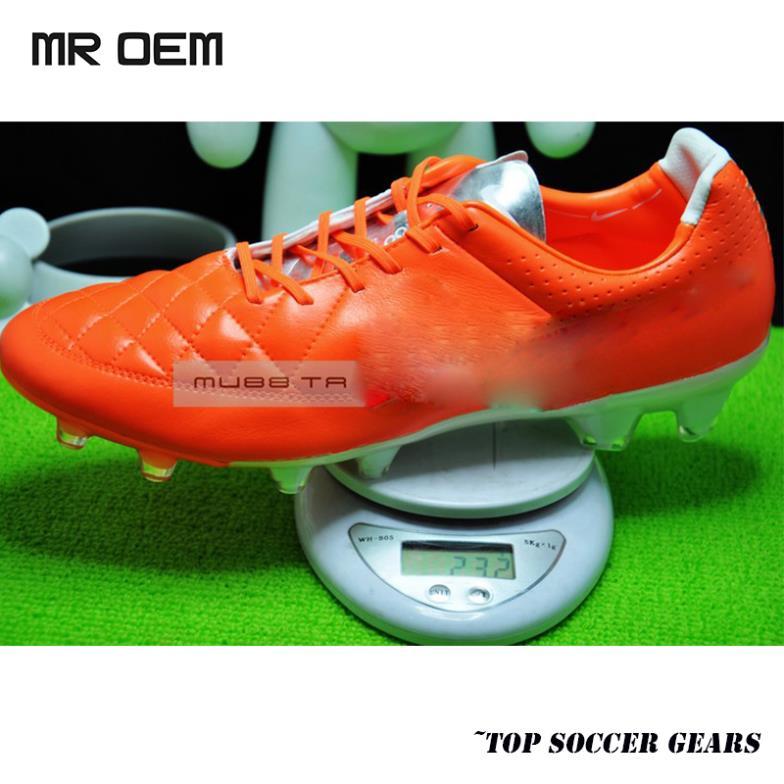 Red Hot Tiempo Legend V FG botas ACC chuteiras de couro Rooney Pique futebol botas chuteiras calçados esportivos de futebol vermelho(China (Mainland))