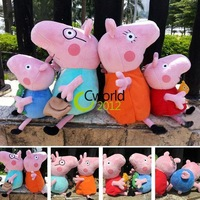 Free Shipping New 4 Pieces Peppa Pig Family Set Plush Baby Kid Toy Anime George Daddy Mummy Pig Stuffed Pelucia Child Girls Doll