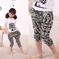 Children's clothing trousers 2014 summer child 100% cotton casual pants female child baby harem pants capris
