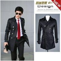 High quality 2014 Men's Dust Coat mens overcoat autumn and spring men's trench coat long trench coats for men