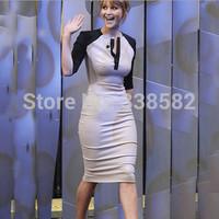 2014 New Summer Dress Women Elegant Knee Length Bodycon Bandage Dress  Pencil Dress Women