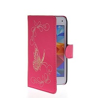 Butterfly Flip Leather Wallet Card Pouch Stand Back Case Cover For Samsung Galaxy S5 Mini