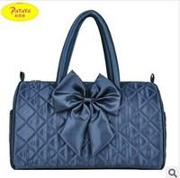 New 2014 Women Fashion Designer Bow Sling Bag Women Blue and Purple Vintage Handbags High Quality Casual Handbags Free Shipping