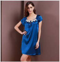 100% mulberry silk pajamas solid dye silk dress many color available pure silk homewear silk bedgown