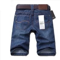 Men's 2014 jeans mid waist knee-length pants denim shorts male men's clothing male straight pants