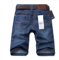 Men's 2014 jeans mid waist knee-length pants denim shorts male men's clothing male straight pants