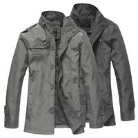 New 2014 trench coat men fashion slim casaco masculino overcoat casual outdoor jacket autumn jacket men plus size