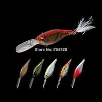 Trulinoya DW36 professional trolling Shad Crankbaits fishing lures,80mm/13g 5 colors,2pcs/lot,Free shipping