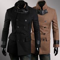 2014 Autumn And Winter Cool Men Fashion Zipper Slim Medium-long Trench Coat Men's outerwear Jacket Windbreaker Overcoat Men