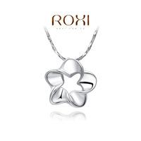Roxi jewelry pendant austria crystal platinum flower necklace  2030227300
