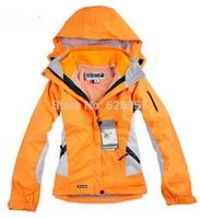 Free Shipping 2014 new brand fashion women's Jackets outdoor sports ski suit warm waterproof two-piece set tops ski wear coat