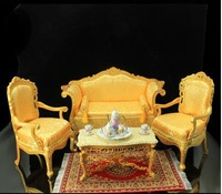 1:6 dollhouse miniature / model /BJD photographic props / yellow living room furniture