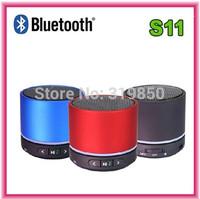 Portable S11 Stereo Bass Digital mini portable music  Mirco SD card reader LED Lights Wireless Bluetooth speaker