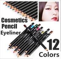 12 Colors Eye Make Up Eyeliner Pencil Waterproof Eyebrow Beauty Pen Eye Liner Cosmetics Eyes Makeup Free Shipping