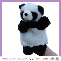 The Chinese Natural Treasure of Panda hand puppet plush toys of animals used for telling stories 12 pieces/lot