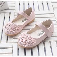 2014 sweet flower kids girl shoes children shoes girl elegant color princess shoes