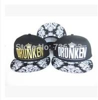 1 pc/lot 2014  Free Shipping Unisex snake print DRUNKEN BBOY Snapback Hip Hop Cap Baseball Skateboard Hat YS9310