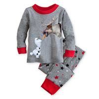 July New Brand Frozen New Arrival 2014 Frozen Olaf Pajama Set Kids Clothing Children Nightie / Pyjamas Clothing Sets for boys