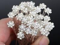 Wholesale 40Pcs Wedding Bridal Clear Crystal Pearl Hair Pins Hair Accessories