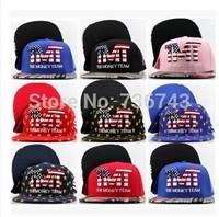 1 pc/lot 2014  Free Shipping Unisex TMT--The Money Team BBOY Snapback Hip Hop Cap Baseball Skateboard Hat YS9308