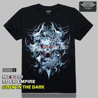 Free Shipping Punk Red Eye Skull  Men's 3D Creative T-Shirt Three D Short Sleeve Tee Shirt