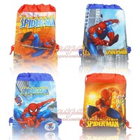 Hot sale! 4pcs Spider Man children school bags,Mixed 4 styles high quality beach backpack kids bag ,Party Favor,Kids Best Gift