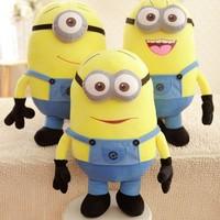 3pcs/set 50cm Minions Plush For kids Despicable Me 3D eyes Plush Toys Yellow Large Minion Doll Stuffed Plush Dave Stuart Stewart