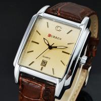 2014 CASUAL CURREN MEN MILITARY WATCHES MALE CLOCK FASHION QUARTZ WATCH MEN CLOCK HOUR DIAL DATE LEATHER MEN WRIST WATCH Reloj