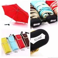Fashion RECHAR five folds Small pocket umbrella/convenient to carry travel umbrella /UV prevent