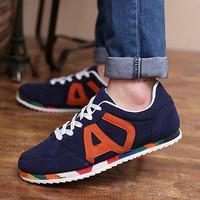 2014spring summer Korean version men platform sneakers British couple casual trend line canvas tide brand polo shoes TDX193
