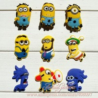 Hot+New,9Styles 45Pcs Despicable Me Shoe Charms,PVC Shoe Ornament,Decoration For Wristband/Shoe with hole Kids Party Gifts/Favor
